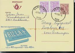 Püblibel Obl. N° 2790 (Papier Cigarettes RIZ LA +)  Obl.  ASSENEDE C (9960)  Le 09/12/85 - Stamped Stationery