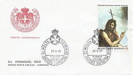 Malta - Malteserorden 1986: 1x FDC + 1x Karte Mit Nr. 257 #X77 - Malta (Orden Von)