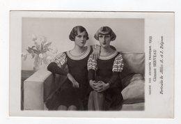 Rare Carte Photo Dédicacée Par Les 2 Femmes Du Tableau De Clement Serveau , Salon Des Artistes Français 1933 , Vizzavona - Peintures & Tableaux