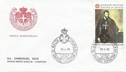 Malta - Malteserorden 1986: 1x FDC + 1x Karte Mit Nr. 256 #X77 - Malta (Orden Von)