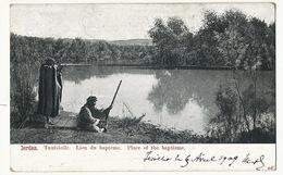 Jordan Lieu De Bapteme Chasse Hunters  . P. Used Stamped Friom Jericho 1909 Turkey Train Perigueux To Albi - Palestine