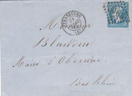 LAC Affr Y&T 22 Obl GC 3465 Avec STRASBOURG [Type 15] Du 24 MARS 65 Adressée à Obernai - Marcophilie (Lettres)