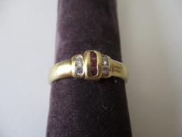 Anello Oro Zirconi E Rubini - Rings