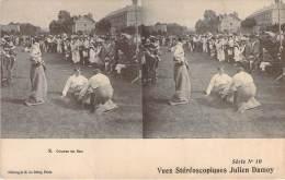 Stéréo - Course En Sac, Vues Stéréoscopique Julien Damoy - Stereoscope Cards