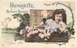 Prénom - Henriette, Meilleurs Souhaits (colorisée) (ambulant Reims à Chalons) - Firstnames