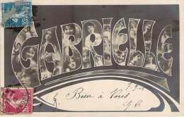 Prénom - Gabrielle, Style Art-Nouveau, Photomontage - Firstnames