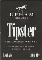 UNUSED - UPHAM BREWERY (UPHAM, ENGLAND) - TIPSTER - PUMP CLIP FRONT - Signs