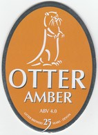 UNUSED - OTTER BREWERY (LUPPITT, ENGLAND) - OTTER AMBER - PUMP CLIP FRONT - Signs