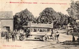 ROLAMPONT MANOEUVRES DE FORTERESSE 1906 L'AUTOMOBILE CONDUISANT LES VAGUEMESTRES (AUTOBUS) - Autres Communes