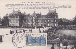Carte-Maximum FRANCE N° Yvert 760 (PALAIS Du LUXEMBOURG) Obl Sp 1er Jour 1946 Sur Belle Carte Ancienne RRR - Maximum Cards