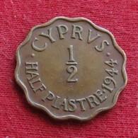 Cyprus 1/2 Piastre 1944 KM# 22a  Chipre - Cyprus