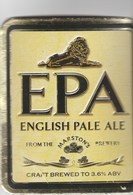 MARSTON'S BREWERY (BURTON UPON TRENT, ENGLAND) - EPA ENGLISH PALE ALE - CURVED PUMP CLIP FRONT - Signs