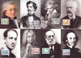 Liechtenstein 1416/23 Auf 8 Maximumkarten - Maximumkarten (MC)