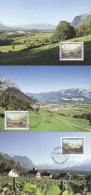 Liechtenstein 1448/50 Auf 3 Maximumkarten - Maximumkarten (MC)
