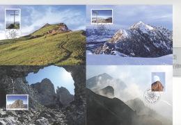 Liechtenstein 1514/17 Auf 4 Maximumkarten - Maximumkarten (MC)