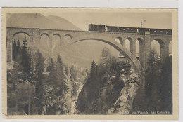RhB Bei Cinuskel - 1914 (alte Elektro-Lok)          (P-154-00929) - Trains