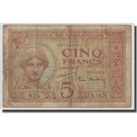 Billet, Madagascar, 5 Francs, KM:35, B+ - Madagascar