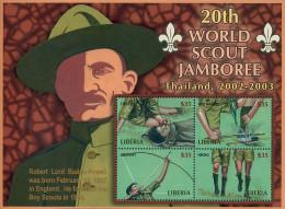 Ref. 224138 * NEW *  - LIBERIA . 2002. 20th JAMBOREE IN THAILAND. 20 JAMBOREE EN TAILANDIA - Liberia