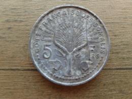 Cotes Francaise De Somalie  5  Francs  1948  Km 6 - Somalia