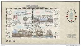 1987-ED. 2916 H.B.-EXPAMER'87-PUERTOS LACORUÑA-LA HABANA,CORREO DE INDIAS-USADO - 1931-Hoy: 2ª República - ... Juan Carlos I