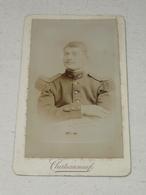 Photo Ancienne Cdv ~1890 Militaire Uniforme 40e RI (Alès) Photographie Des Arts Chateauneuf Avignon Nimes... 10.5 X 6.5 - Krieg, Militär