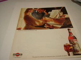 ANCIENNE PUBLICITE APERITIF MARTINI SANS FAUSSE NOTE 1983 - Alcohols