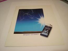 ANCIENNE PUBLICITE BRIQUET SEITANES BRUNE LEGERE 1982 - Tabac (objets Liés)