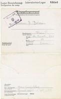 VOSGES CAMP DE PRISONNIERS DE GUERRE DE VITTEL FRONT-STALAG 194  CLFM 1941 TEXTE EN ANGLAIS => HISTORIQUE =>(mai 1941-se - Marcophilie (Lettres)