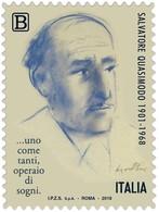 Italia Repubblica 2018 Salvatore Quasimodo Euro 1,10 MNH** Integro - 6. 1946-.. Repubblica