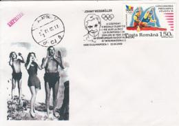 CINEMA, JOHNNY WEISSMULLER, TARZAN, SWIMMING, SPECIAL COVER, 2002, ROMANIA - Cinema