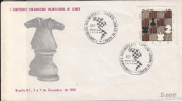 CHESS, ECHECS, PAN-AMERICAN CHAMPIONSHIP, SPECIAL COVER, 1980, BRAZIL - Scacchi