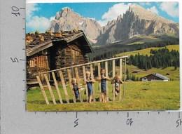 CARTOLINA VG ITALIA - L'Alpe Di SIUSI Con Il Gruppo Del Sassolungo - Bambini - 10 X 15 - ANN. 1971 - Bolzano