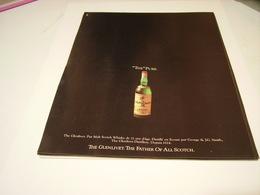PUBLICITE AFFICHE THR PURE  WHISKY GLENLIVET   1981 - Alcohols