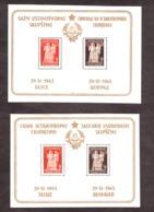 Yougoslavie - 1945 - BF N° 2 (x2 Caractères Romains + Cyrilliques) - Neufs * - Nouvelle Constitution - Blocs-feuillets