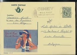 Publibel Obl. N° 2751 ( Vin De France) Obl. Liège + Fl: Grand Bi - Vélo - Ciney - Stamped Stationery