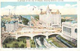 Canada - Ontario - Ottawa - The Grand Trunk's Hotel And Passenger Station - Ottawa