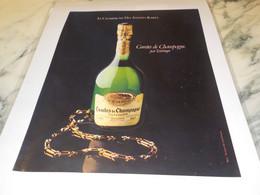 ANCIENNE PUBLICITE COMTE DE CHAMPAGNE DE TAITTINGER 1981 - Alcohols