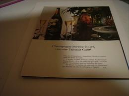 ANCIENNE PUBLICITE LE CHAMPAGNE PERRIER - JOUET  1981 - Alcohols