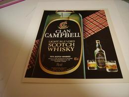 PUBLICITE AFFICHE WHISKY CLAN CAMPBELL 1981 - Alcohols