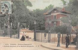 ¤¤  -  PARIS    -   Buttes Chaumont  -  L'Entrée Du Parc Et La Maison Du Garde   -  ¤¤ - Arrondissement: 19