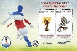 MNH SHEET COSTA RICA, 2018 Soccer World Cup Rusia - World Cup