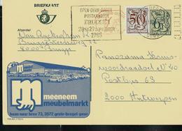 Publibel Obl. N° 2768 + P 010  ( Meubles - Meubel Markt) Obl. BRUGGE + Flamme: Brugge 1 1985 - Stamped Stationery