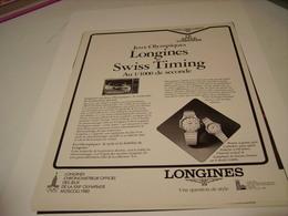 PUBLICITE AFFICHE MONTRE LONGINES ET LES JEUX OLYMPIQUE DE MOSCOU 1980 - Autres