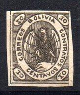 Sello Nº 4 Bolivia - Águilas & Aves De Presa