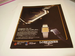ANCIENNE PUBLICITE MONTRE LONGINES 1983 - Bijoux & Horlogerie