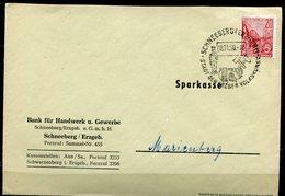 """DDR 1960 Heimatbeleg Schneeberg Mit Mi.Nr.580 B Und SST"""" Schneeberg-Stadt Der Erzgeb. Volkskunst""""1 Beleg - Covers"""
