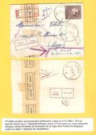 TP 848A Poortman S/L.recommandée C.Liège 5/12/60 V.E/V Etiq.Retour&refusé Bande Letrre En Rebut F9 - Covers & Documents