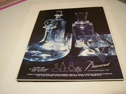 ANCIENNE PUBLICITE L ART DU CRISTAL BACCARAT 1983 - Other Collections