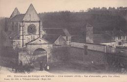 60. CREPY EN VALOIS (ENVIRONS DE). CPA ; VUE D'ENSEMBLE PRES VEZ . ANNEE 1915 - Crepy En Valois