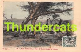 CPA  COTE DES SOMALIS HALTE DE CARAVANE DANS LA BROUSSE - Somalia